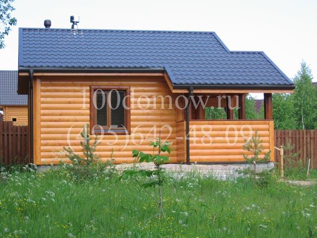 Отделка кирпичного дома снаружи блок хаусом